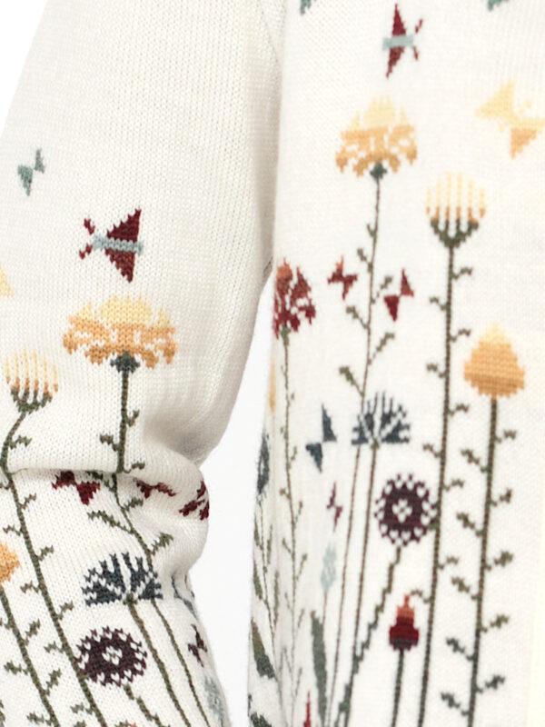 Flovers kukkakuvio, valkoinen väritys