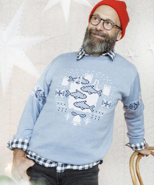 HS - Ruma totuus villapaita veelean sininen