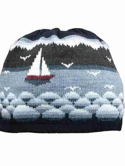 Segelboot woolpipo blau