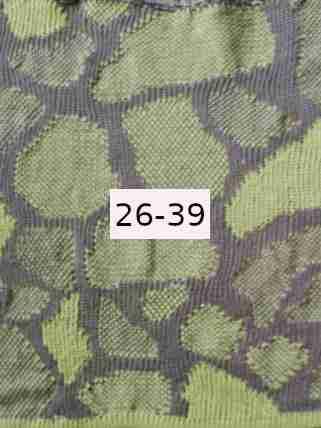 Bio Flachs grau - hellgrün