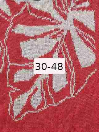 Luomupellava punainen valkoinen