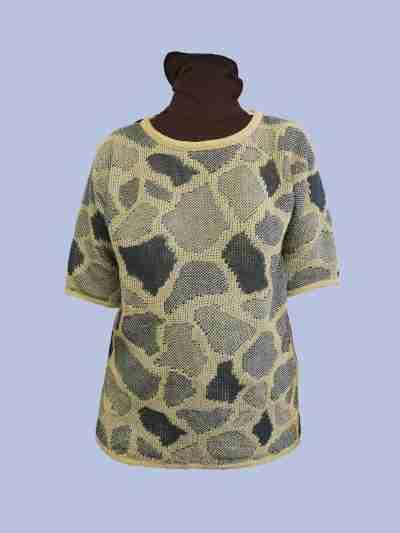 Giraffe pellavatunika valko-sininen