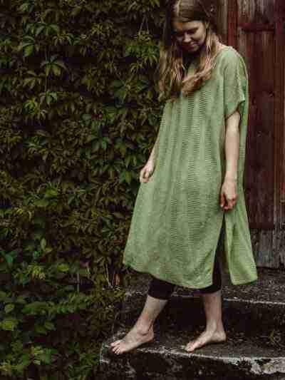 Leinen Kleid in einer Größe